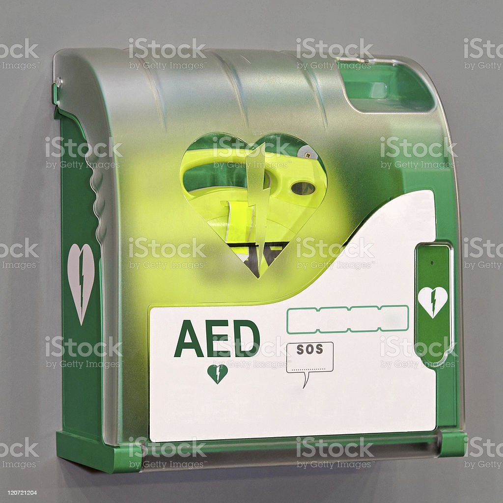 AED unit royalty-free stock photo