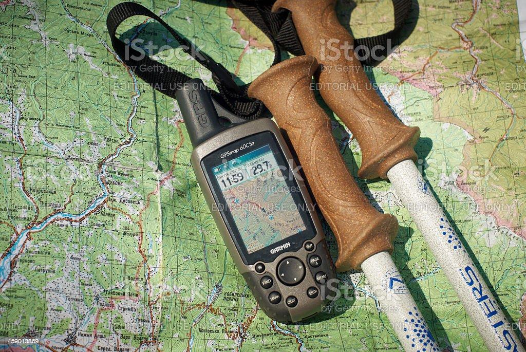 GPS unit royalty-free stock photo