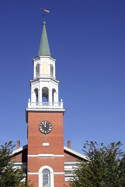 Unitarian Church, Burlington Vermont stock photo