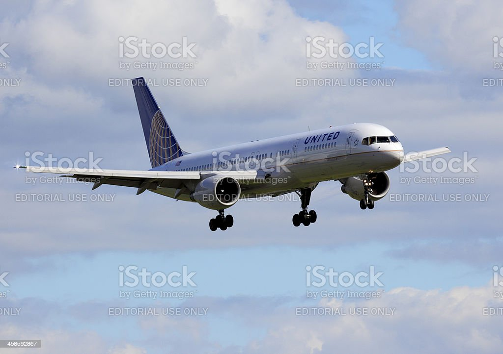 United 757 stock photo