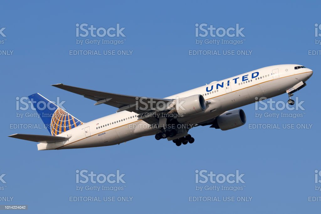 United Airlines aircraft stock photo