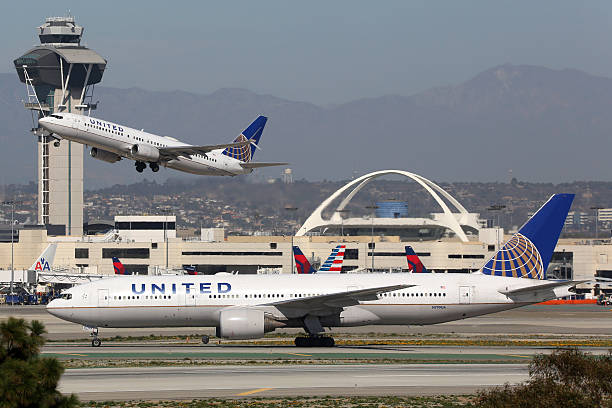 United Airlines Flugzeugen Los Angeles International Airport – Foto
