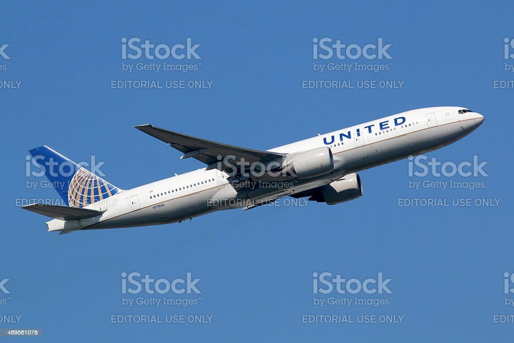 United Airlines Boeing 777-200 Lizenzfreies stock-foto