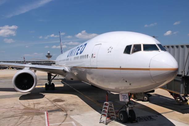 United Airlines Boeing stock photo