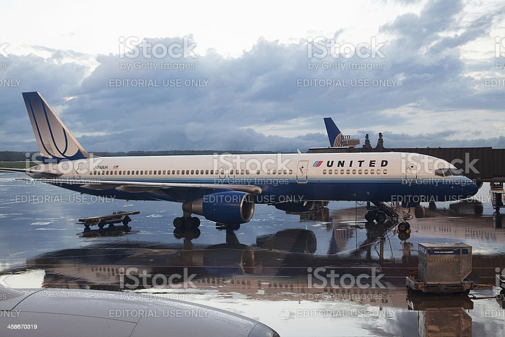 United Airlines royalty-free stock photo