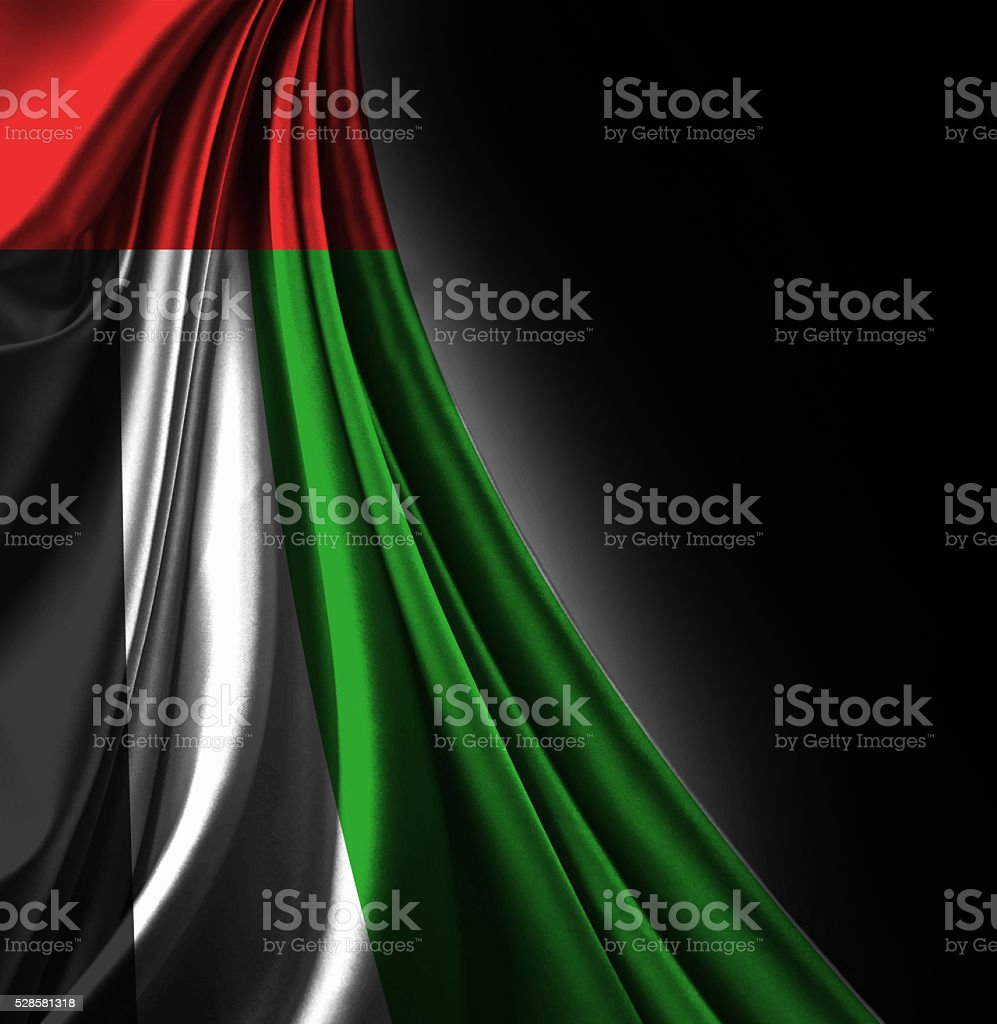 Bandera Emerates Árabes Unidos - foto de stock