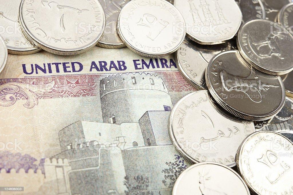 united arab emirates dirham stock photo