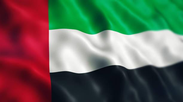 united arab emirates flag depth of field - uae flag zdjęcia i obrazy z banku zdjęć