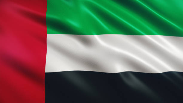 united arab emirates flag - uae flag стоковые фото и изображения