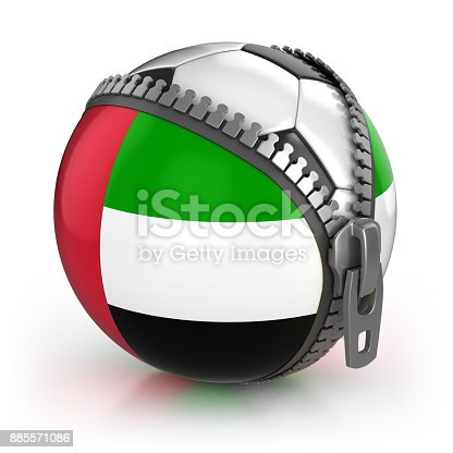 istock United Arab Emirates football nation 3d isolated illustration 885571086