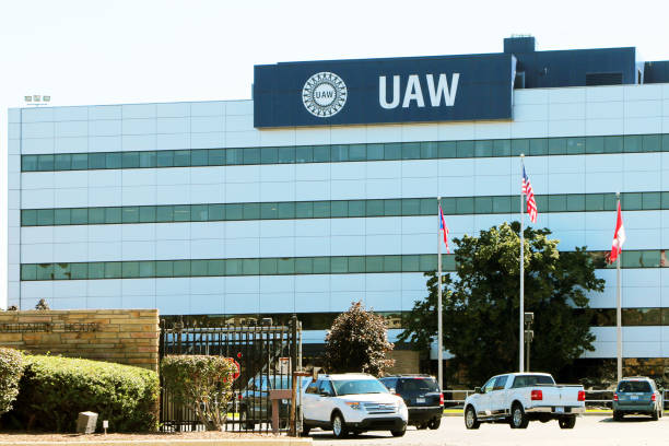 United Auto Workers Headquarters stock photo