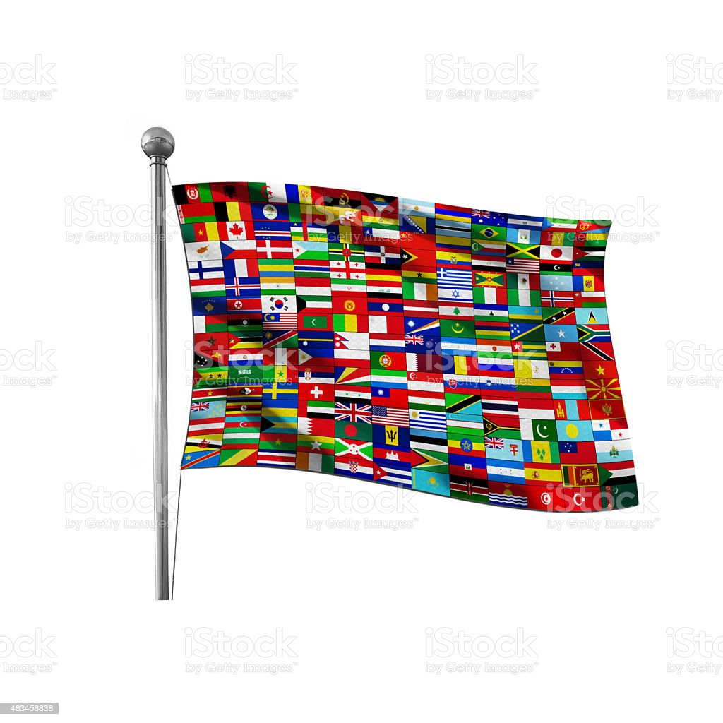 United Flag stock photo