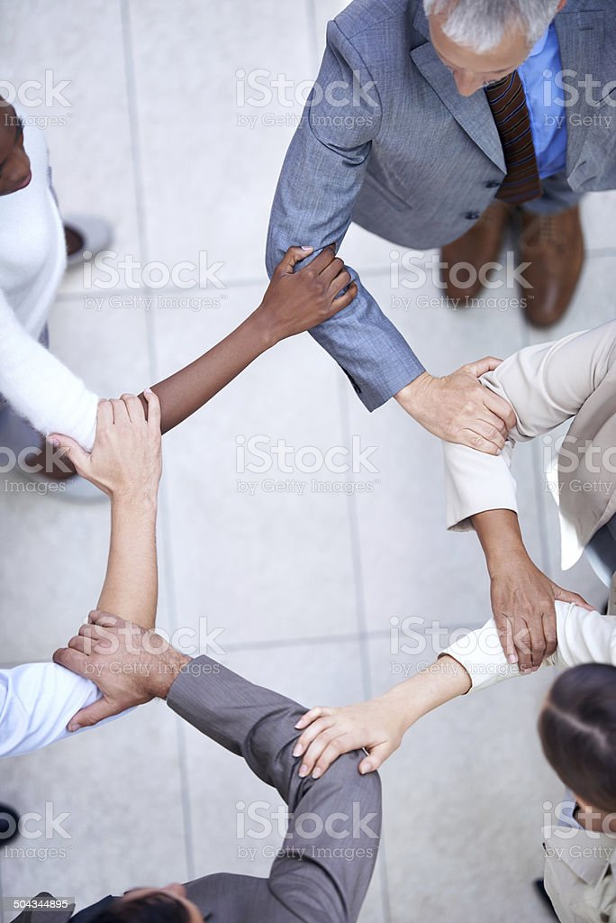 United in business stock photo