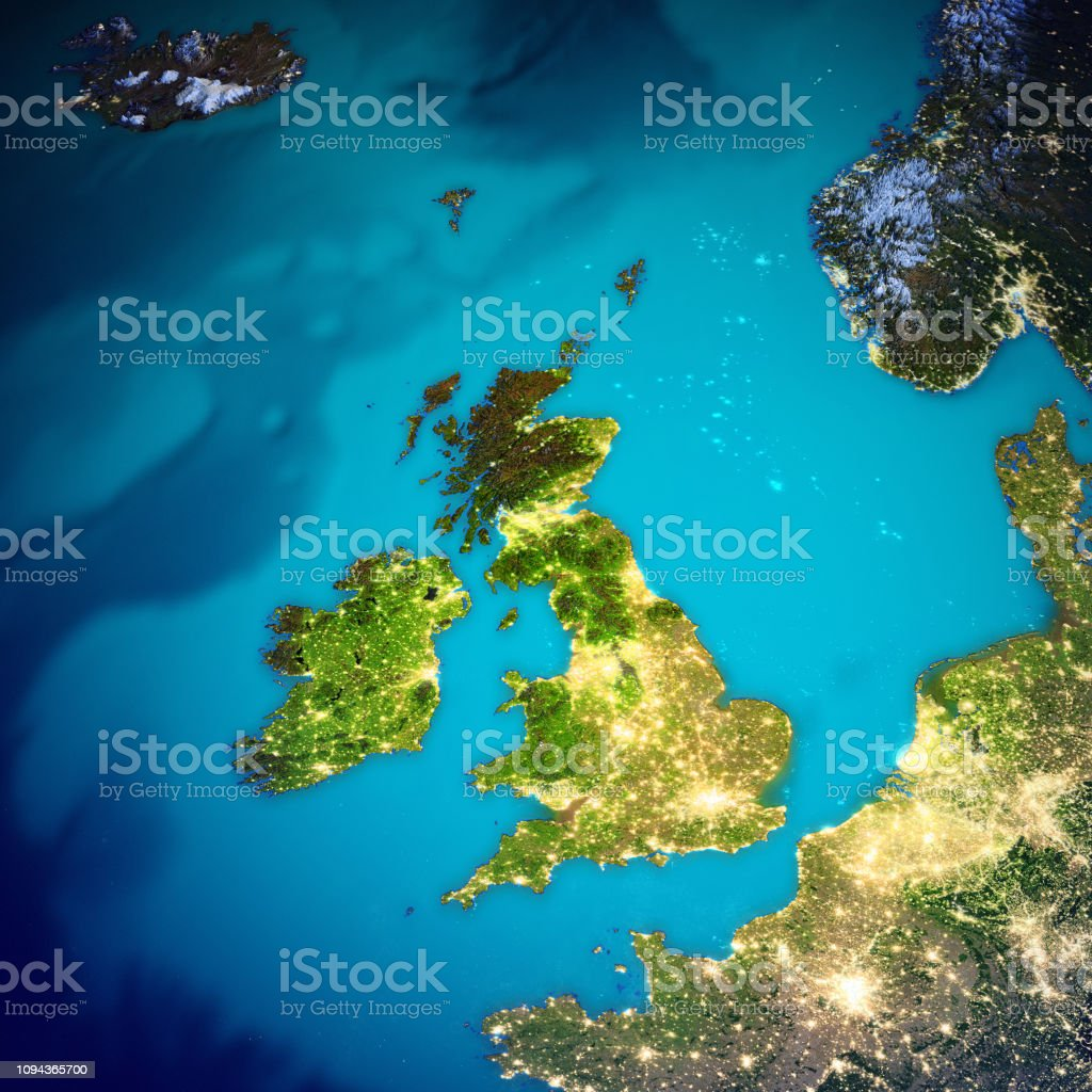 Map Of Ireland United Kingdom.United Kingdom And Ireland Map Stock Photo More Pictures Of Astronomy