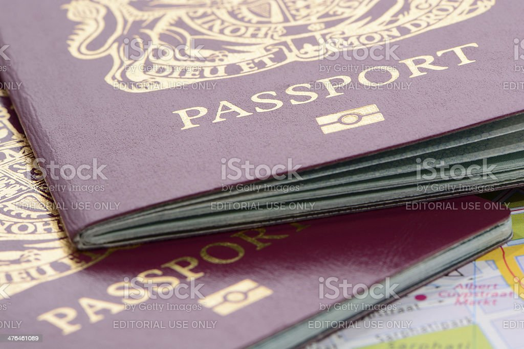 United Kingdom Biometric Passports stock photo