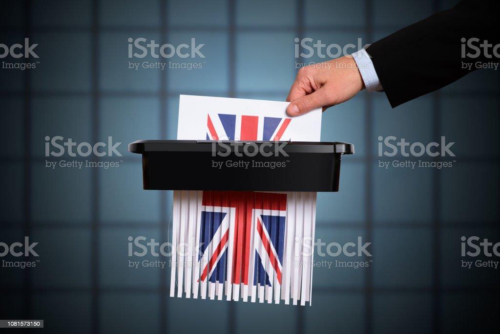 United Kingdom Brexit Identity Destruction stock photo