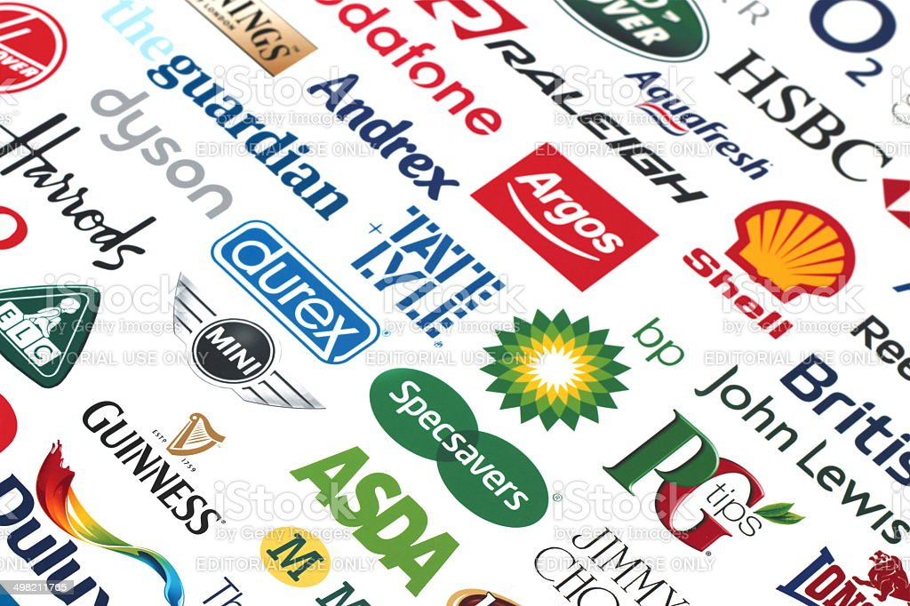 United Kingdom British Brands Companies stock photo