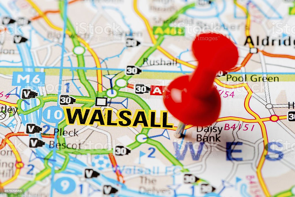 United Kingdom Capital Cities On Map Series Walsall Stock Photo