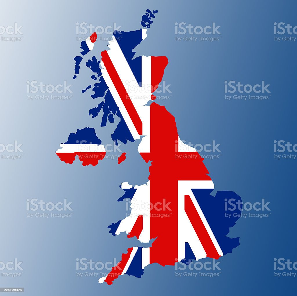 United Kingdom flag map royalty-free stock photo