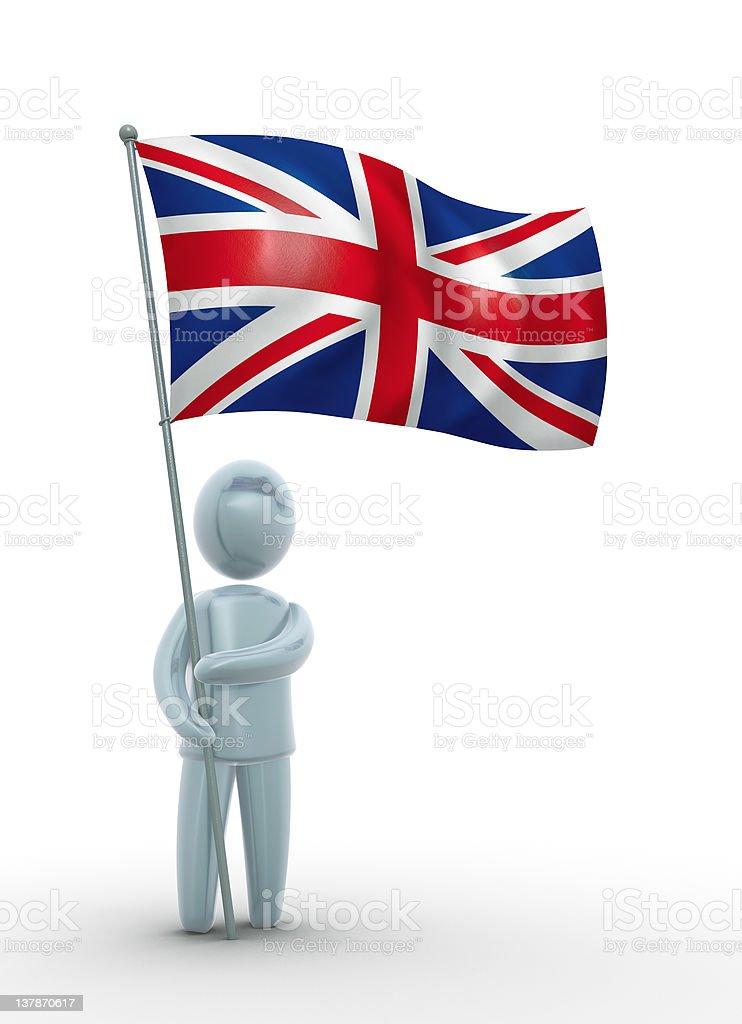 United Kingdom flag royalty-free stock photo