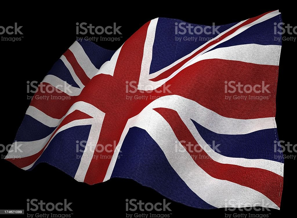 3D United Kingdom Flag royalty-free stock photo