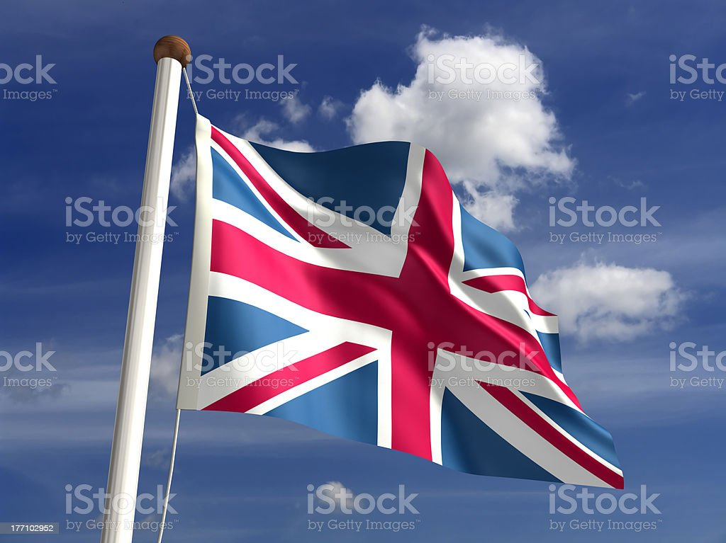United Kingdom flag (with clipping path) stock photo