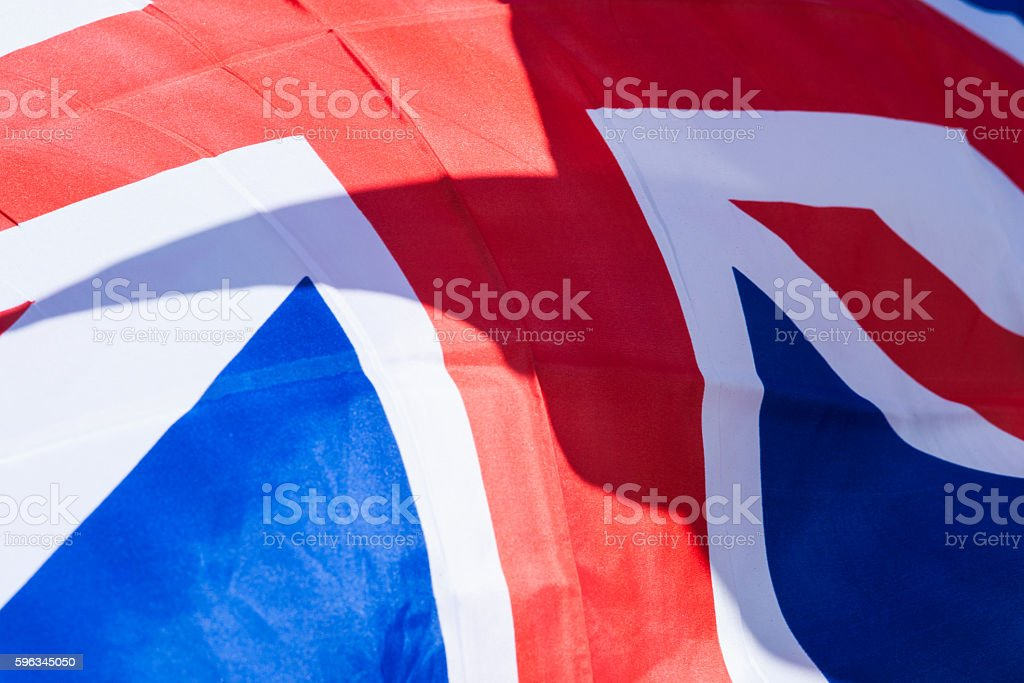 United Kingdom flag waves in the breeze Lizenzfreies stock-foto