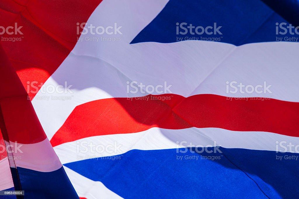 United Kingdom flag waves in the wind Lizenzfreies stock-foto