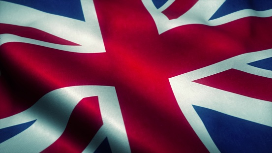 istock United Kingdom flag waving in the wind. National flag of United Kingdom. Sign of United Kingdom. 3d illustration 1205788311