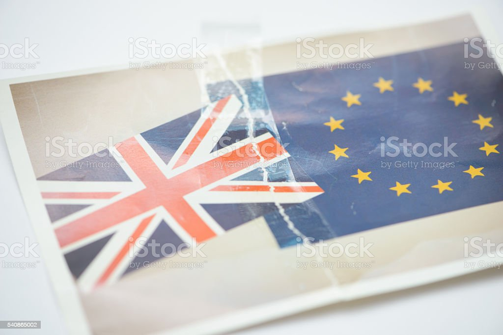 United Kingdom in Europe Brexit Concept Image royalty-free stock photo