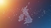 istock United Kingdom Map Geometric Network Polygon Graphic Background 1254539350