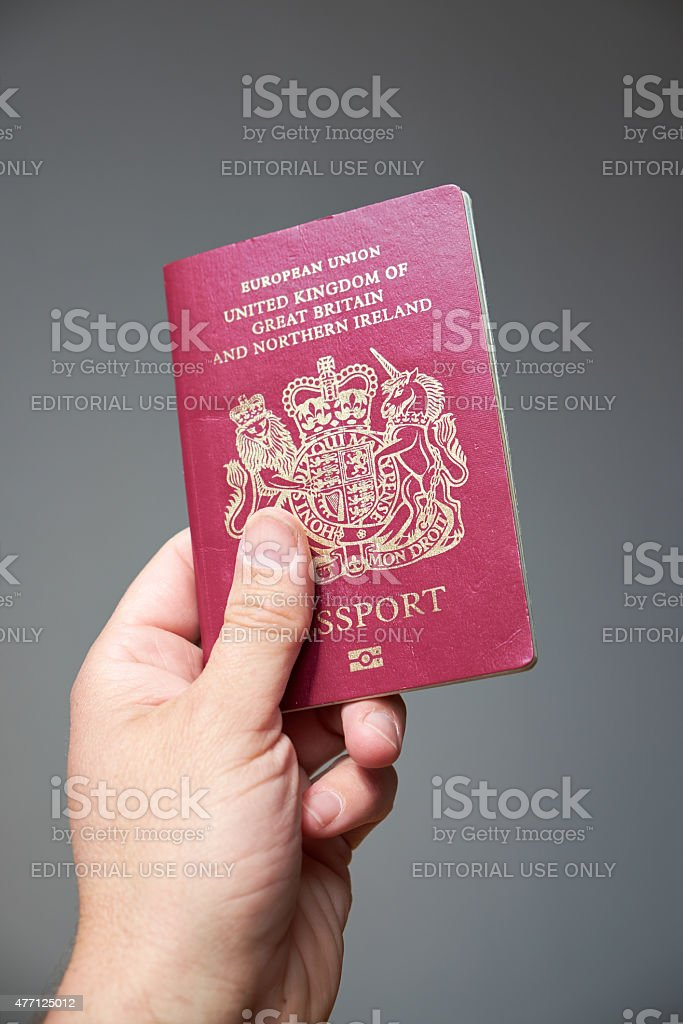United Kingdom Passport stock photo