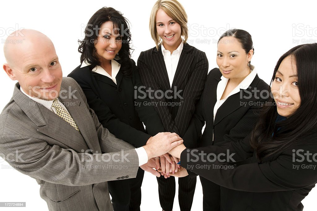 United Multicultural Business Team (Series) royalty-free stock photo