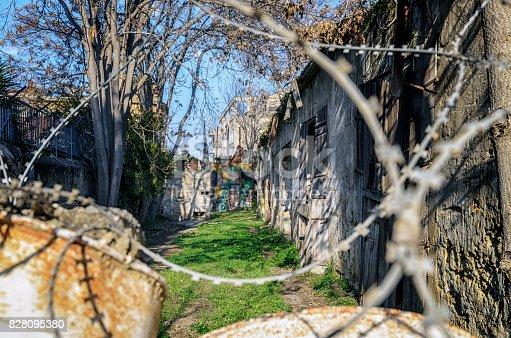 587773316 istock photo United Nations buffer zone (Green line) in Cyprus in Nicosia. 828095380