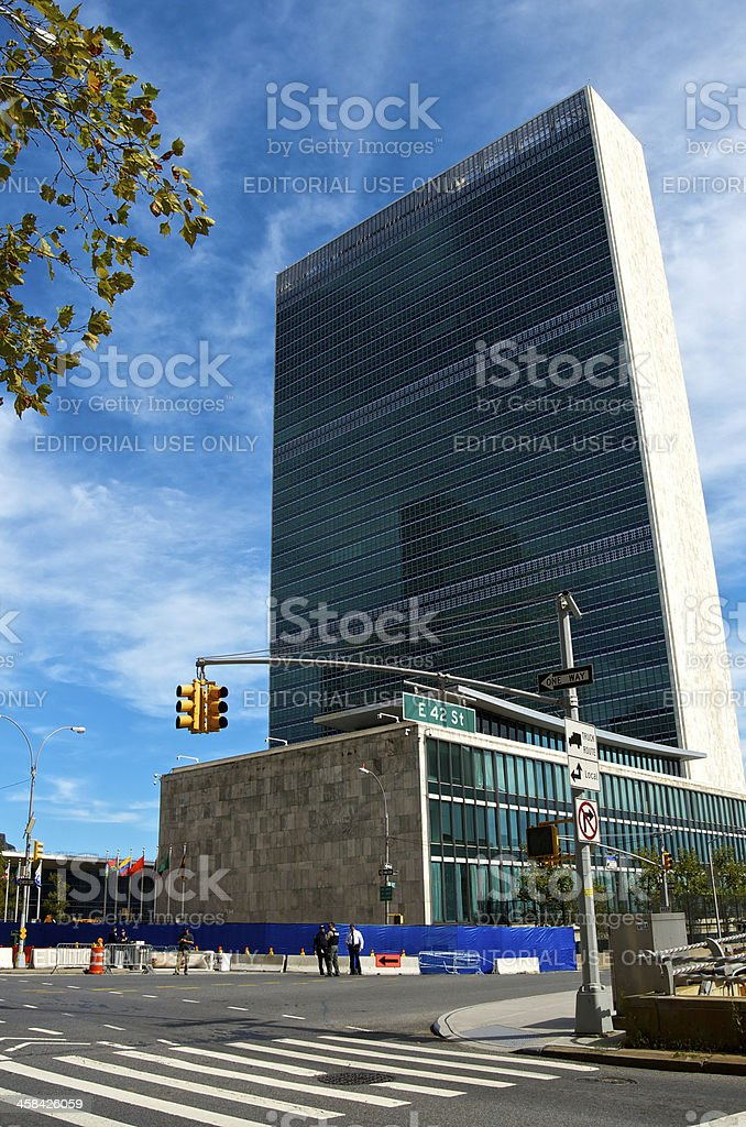 United Nations Building, E.42nd Street, Midtown Manhattan, New York City royalty-free stock photo