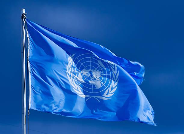 유엔깃. - united nations 뉴스 사진 이미지
