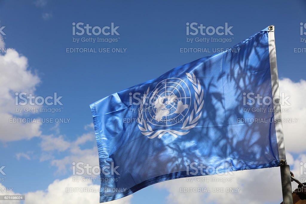UN-Flagge Lizenzfreies stock-foto
