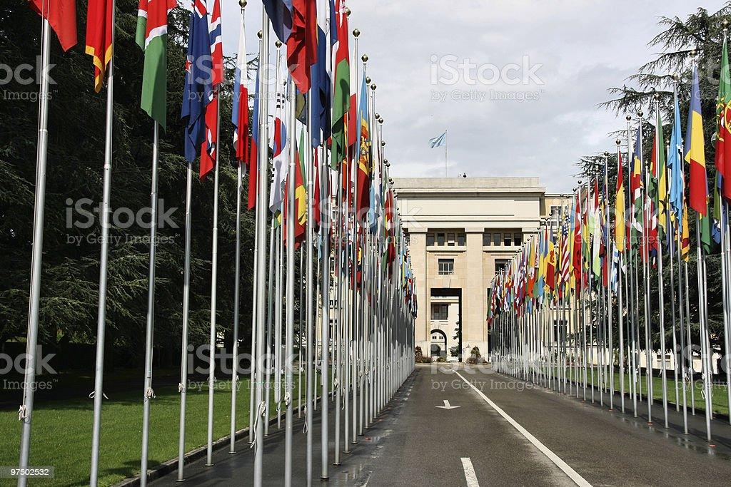 United Nations, Geneva royalty-free stock photo