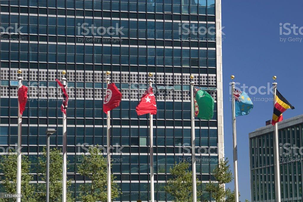 united nations headquarters, new york stock photo