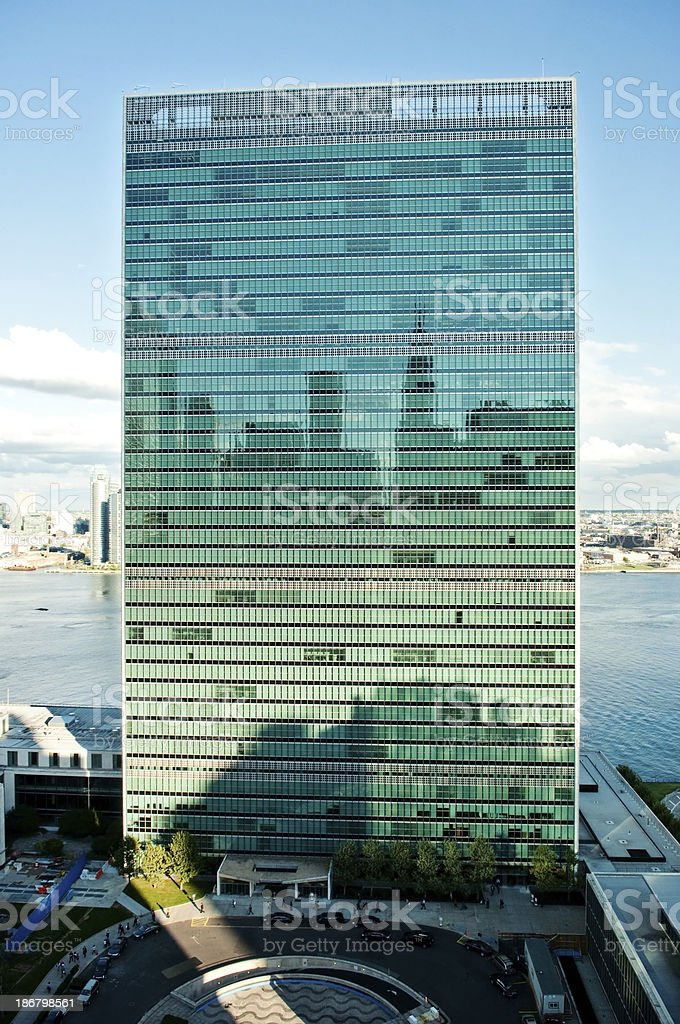 United Nations in New York City royalty-free stock photo