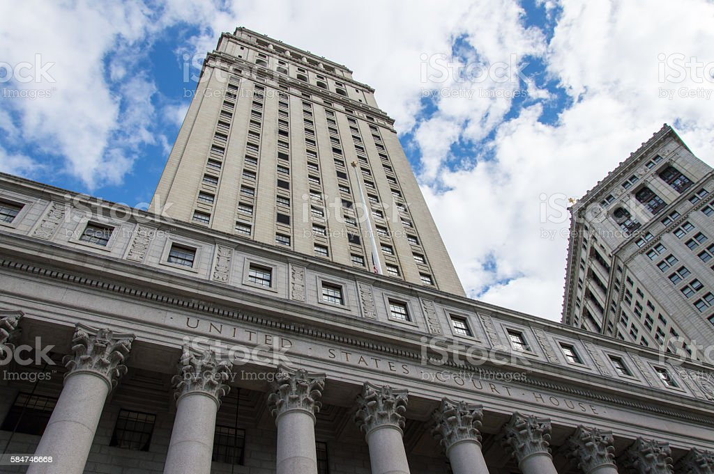 United State Court House in New York stock photo