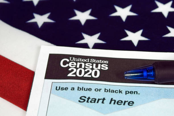 United States 2020 census form stock photo
