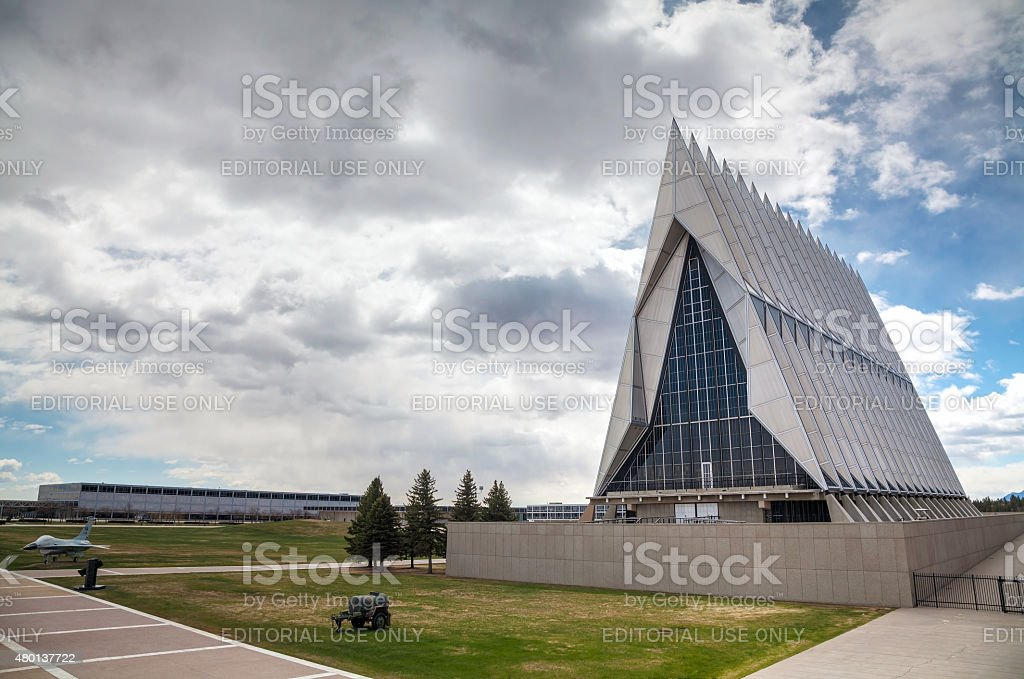 United States Air Force Academy Cadet Chapel in Colorado Springs​​​ foto