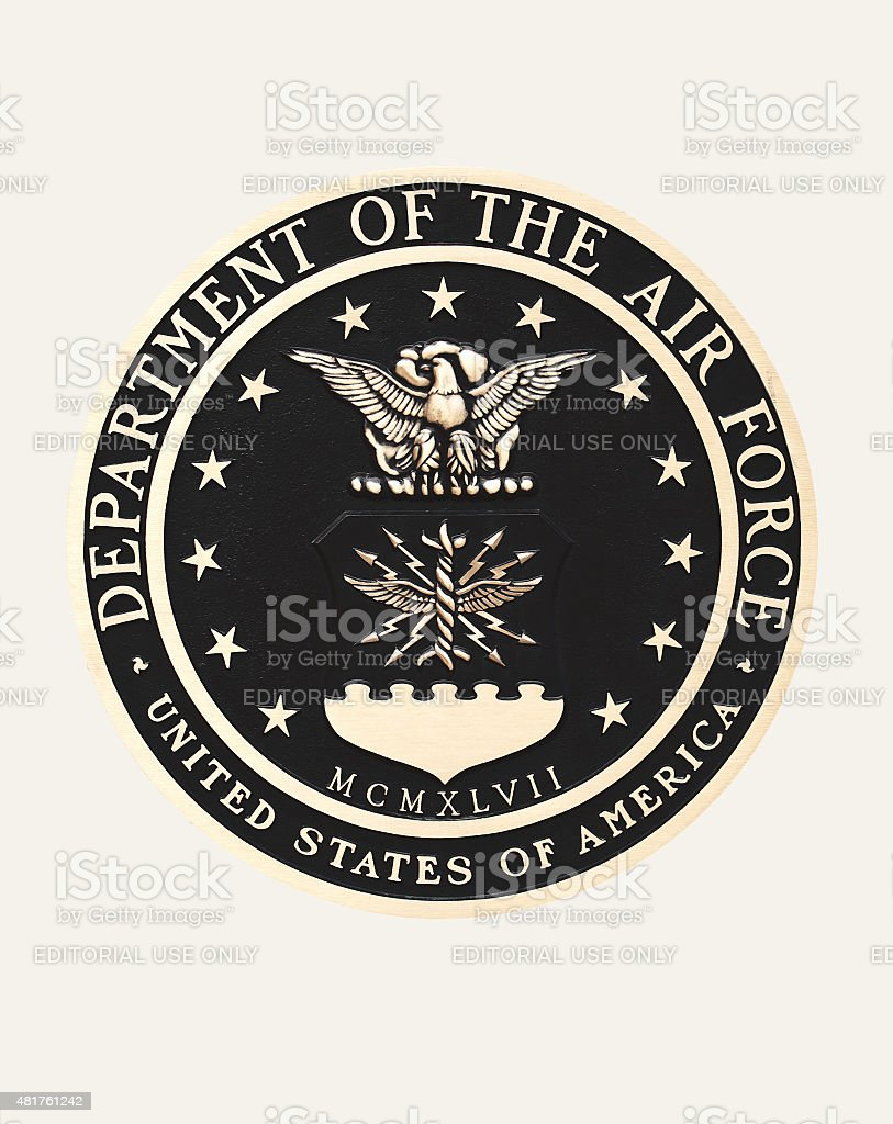 United States Air Force emblem stock photo