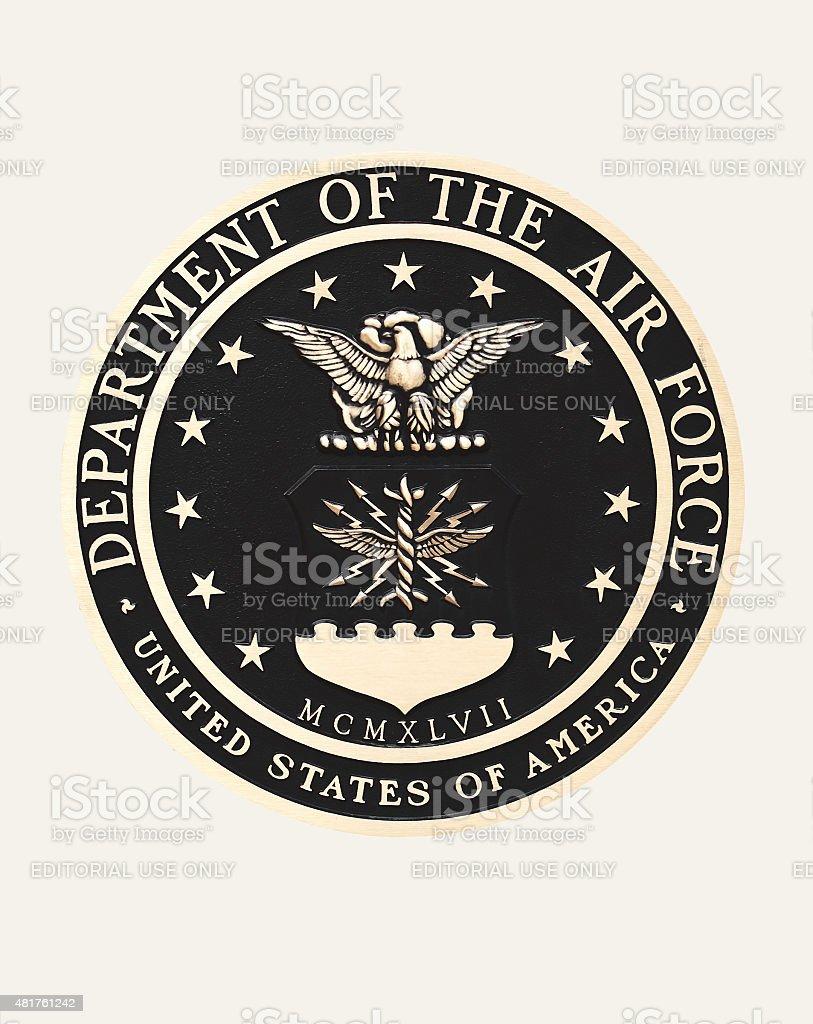 United States Air Force emblem stock photo