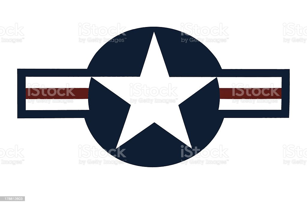 United States Air Force logo against a white background stock photo