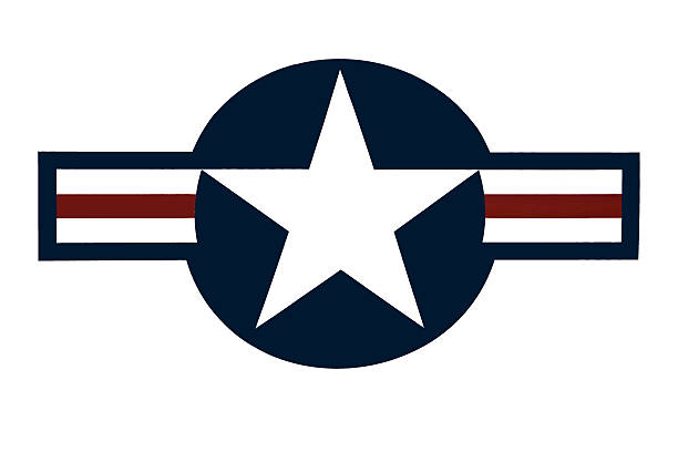 United States Air Force logo against a white background Logo and emblem of the Unites States Airforce insignia stock pictures, royalty-free photos & images