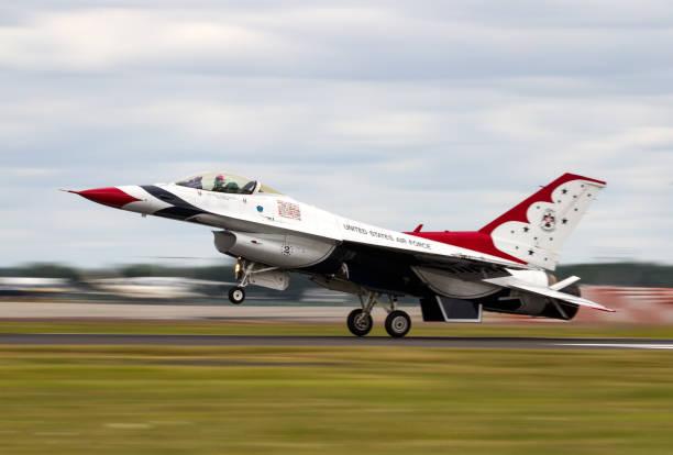 United States Air Force Thunderbirds at The Royal International Air Tattoo stock photo