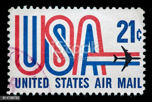 istock United States Air Mail postage stamp 914739732