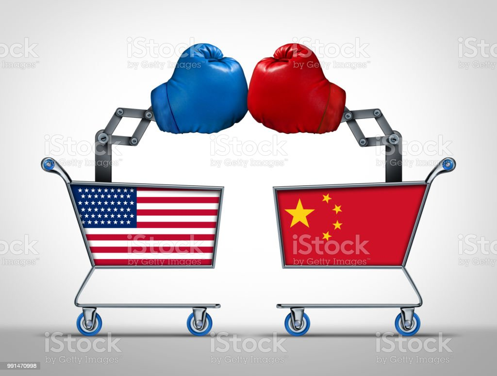 United States And China Trade War stock photo